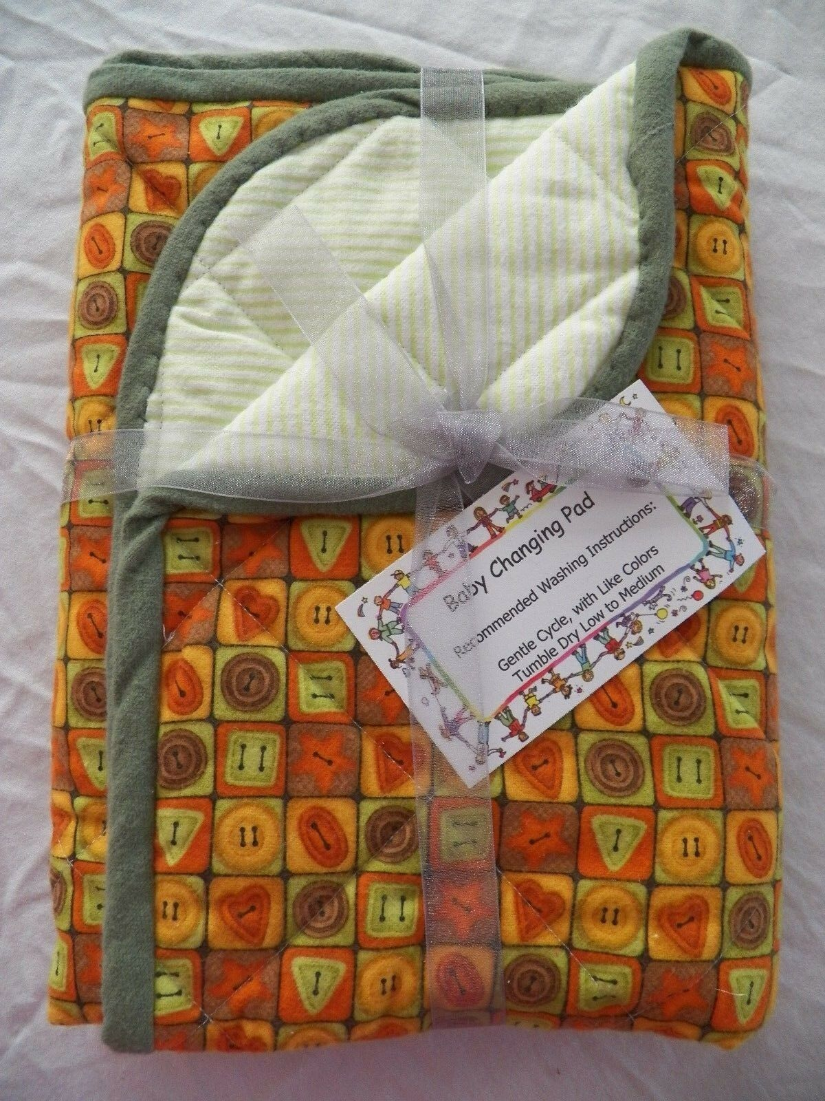 BABY CHANGING PAD Portable Diaper Travel Mat Cotton Washable Padded Handmade NEW 20