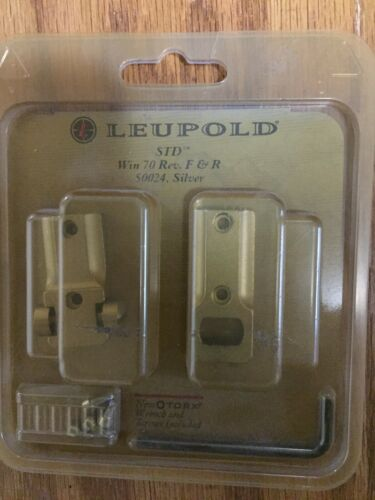 Leupold 50024 STD Bases For Winchester Model 70 F R Silver New - $14.00
