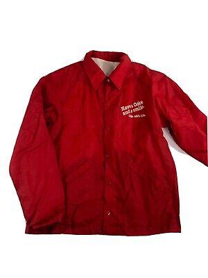 XL Coca Cola Employee Windbreaker Men Vintage Jacket Red Coke Size Medium Large