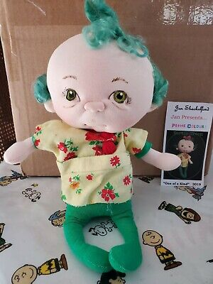 Soft Sculpture One of a Kind Artist Doll by Jan Shackelford,Petite Colors Series