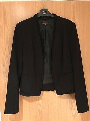 Black Formal Suit Jacket Womens Ladies Womens New Look Size 10 Smart Evening