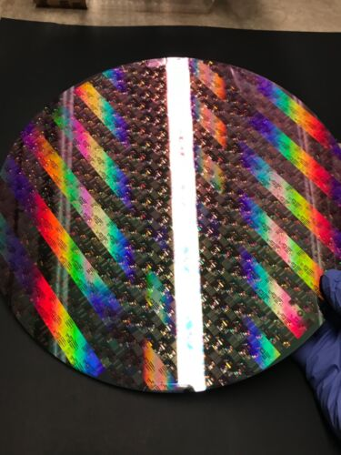 """silicon wafer 12"""" 300mm copper pattern reclaimrare"""