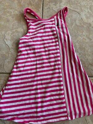 Nautica Girls Pink And White Striped Dress 4T