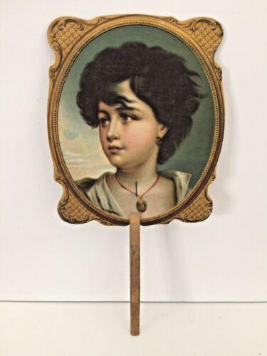 Antique Hand Held Cardboard Fan Brooklyn NY Frederick Loeser Dept Store Advertis