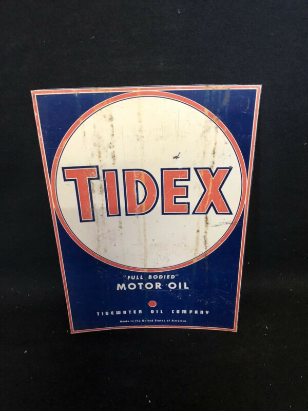 "1950's 9 1/2"" Tidex Oil Sign"