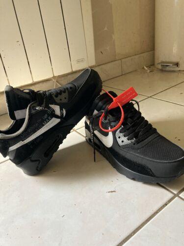 Nike air max 90 off white noir taille 43 neuve. aa7293-001