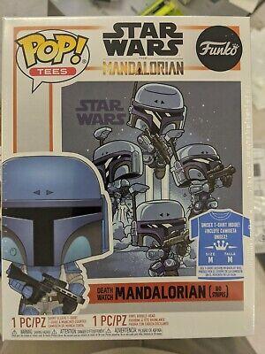"Funko Pop! The Mandalorian #361 ""Death Watch"" No Stripes - With T-shirt Size M"