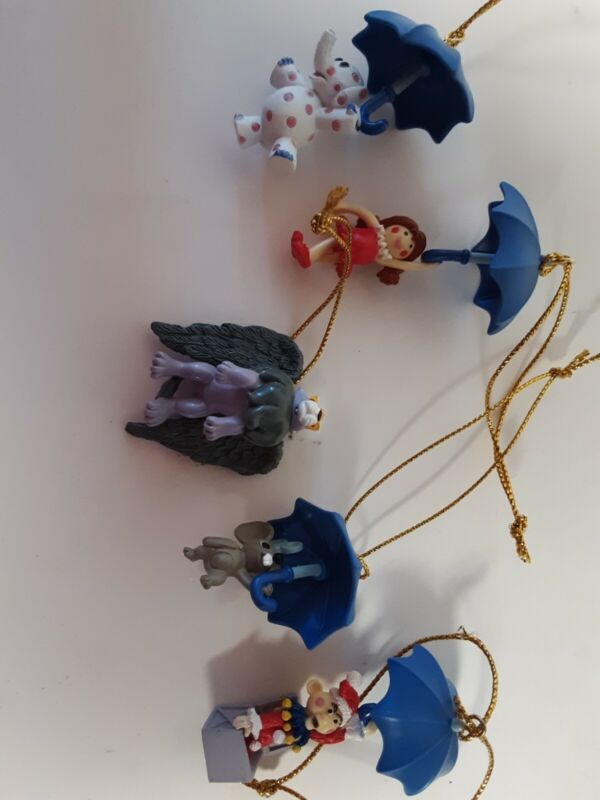 Rudolph the red nose reindeer, Island of Misfit toys ornaments by Enesco
