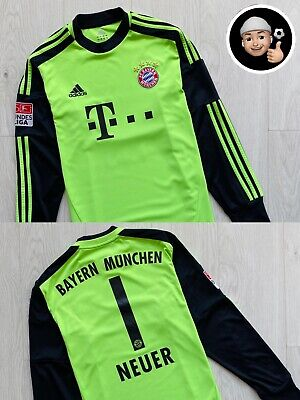 2012 2013 Neuer Bayern Munich Germany Home Goalkeeper Long Soccer Shirt Jersey image