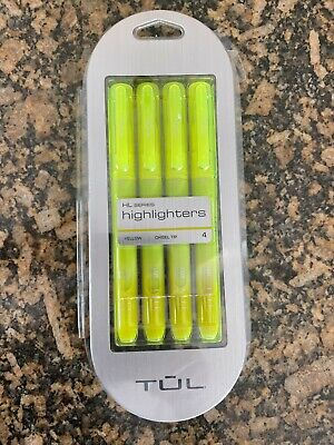 Tul Highlighters Hl Series Chisel Tip Yellow Pack Of 4 Highlighters