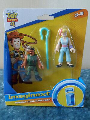Disney Pixar Toy Story 4 Imaginext Combat Carl & Bo Peep Figures