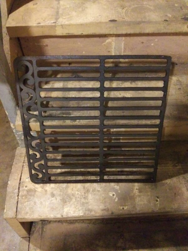 Vintage H Rugby Cast Iron Stove Grate