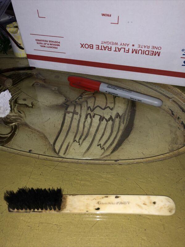"Vintage Clingfast Caligraphy Bone Brush 6"""