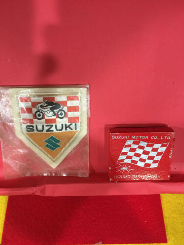 1966 SUZUKI MOTOR CORP BRAND NEW LIQUIFIED GAS LIGHTER AND JACKET PATCH