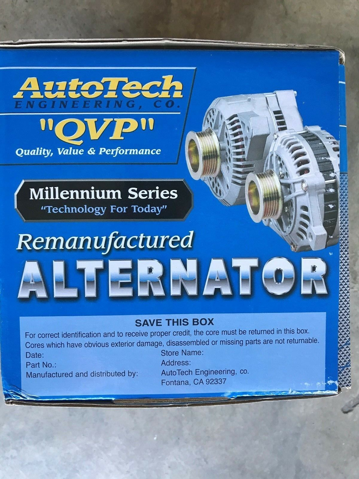 Autotech Re-manufactured Alternator Millennium Series 7861-7 2