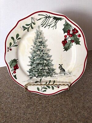 * Better Homes and Gardens* Christmas Tree  Heritage Salad Plate New 9