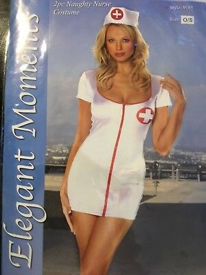 Sexy! Naughty Nurse Sleeve Outfit Costume Nurses Hat 9165