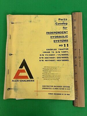 Allis-chalmers Hd-11 Independent Hydraulic Crawler Tractor Parts Catalog