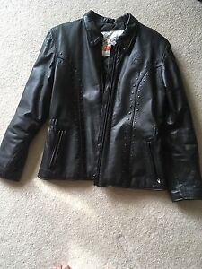 Angora women's leather jacket
