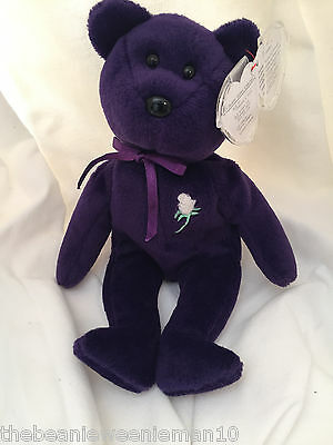 PRINCESS DIANA 1st Edition Beanie Baby (Ghost Version) PVC, MUST READ!!