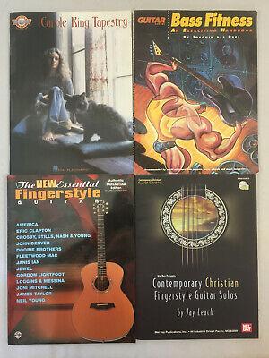 Guitar/Bass Music Books Carole King Fingerstyle Contemporary Christian Lot of 4 Christian Bass Guitar