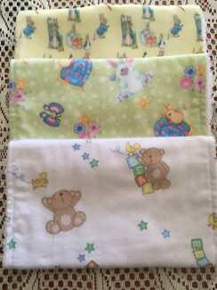Baby Burp Cloths in Sets of 3 - Boy, Girl and Neutral Designs