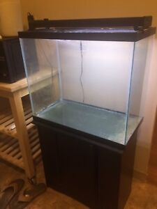 25 Gallon Tall Aquarium, Stand, Aqueon LED Light