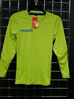 61bbe3828 Reusch Soccer Goalie Padded Long Sleeve Jersey MATCH Youth Medium SLIM FIT  LIME
