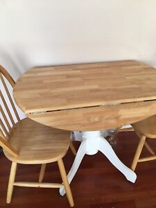 Drop leaves. Kitchen table solid wood