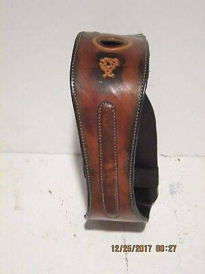 ARGENTINA LEATHER WINE BOTTLE HOLDER/POURER & CADDY HANDMADE ONE OF A KIND NEW!!