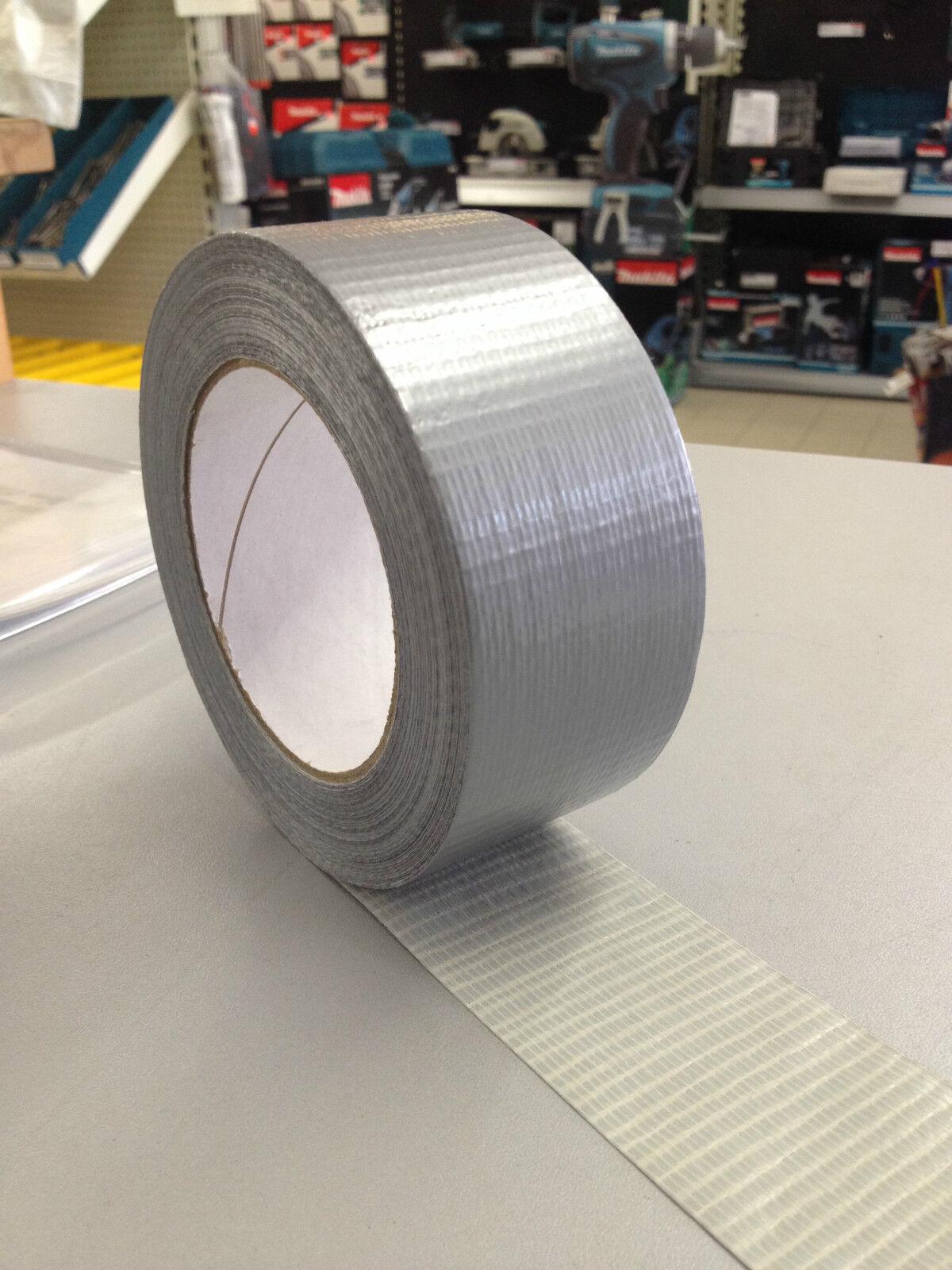 0,05€/m Gewebeklebeband 50m*48mm Silber Steinband Panzertape Reparaturband Tape