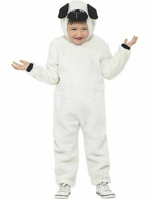 Sheep Costume Boys Girls Kids School Nativity Fancy Dress Outfit Farm Story Lamb