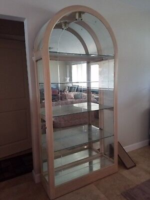 HOWARD MILLER 680-175 Solid Wood & Glass Dome Top Curio / China Cabinet w/ Light - Howard Miller Glass Cabinet