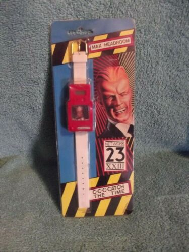 1986 Coca Cola Max Headroom Pop Up Wrist Watch  C-C-C-C-Catch The Time!!! MIP