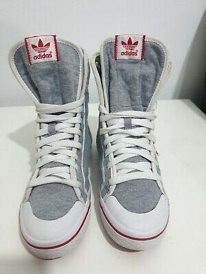 Adidas Originals WOMENS HI-TOP TEXTILE Trainers - UK Size 5 - MINT CONDITION!