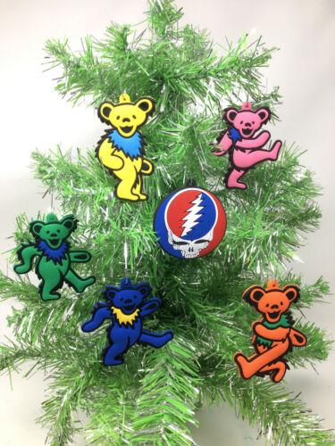 The Grateful Dead Dancing Bears Christmas Tree Ornament 6 Piece Set. ***NEW***