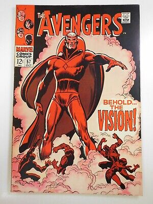 Avengers 57 Earth s Mightiest Heroes Beautiful VF- 1st Appearance Vision  - $117.50