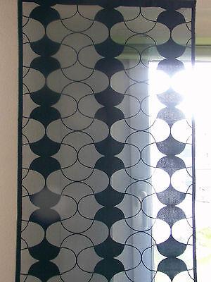 Schiebegardine, Gardine, Vorhang, Balkontür, HxB 225x55, blau, petrol Klettsch.