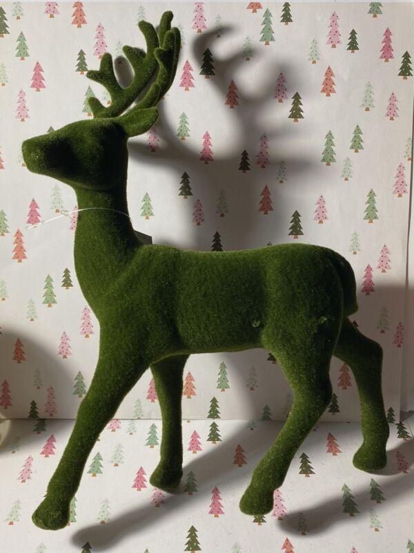 Green Flocked Deer Decorative Figurine Target Wondershop 2020 New