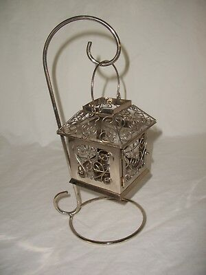 Tealight Candle Holder Lantern Metal & Wire With Stand (Candle Stand)