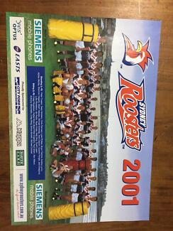 2001 NRL Poster SYDNEY ROOSTERS