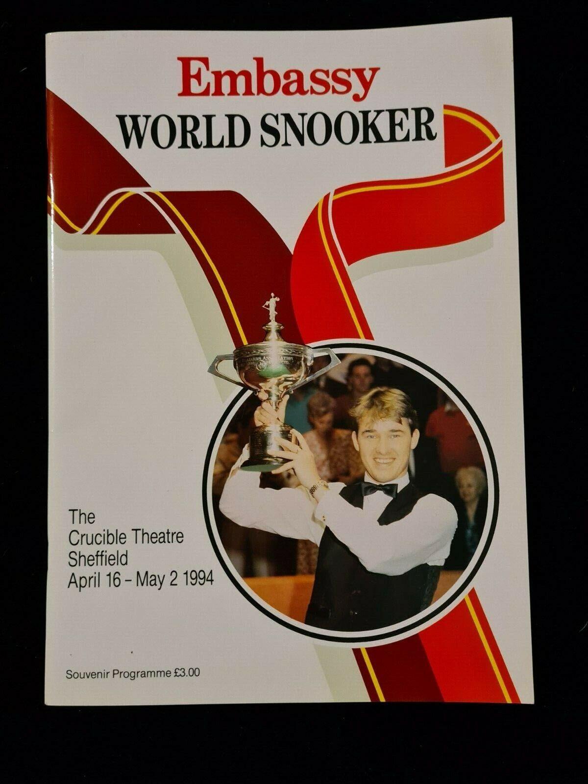world snooker programme Sheffield crucble 1994