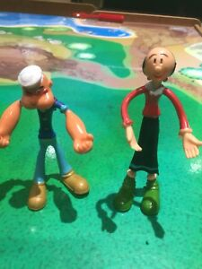 Vintage Popeye and Olive Oil Bendable Figures