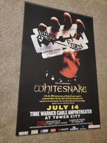 Judas Priest Whitesnake British Steel tour poster 11X17
