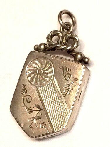 Beautiful Antique 1900 Silver Memento Locket Pendant