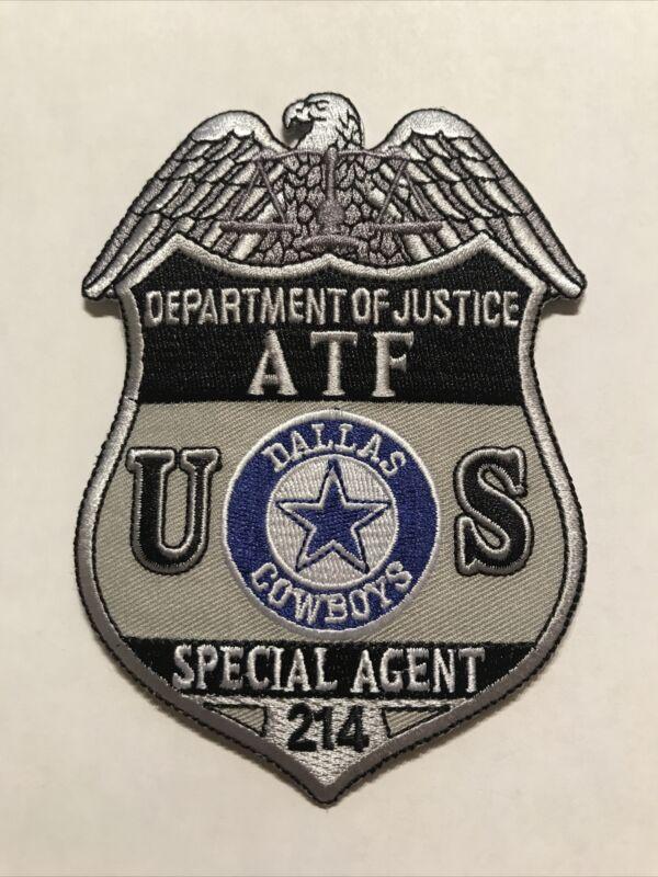 DOJ ATF Special Agent Texas Dallas Cowboys NFL Special Agent Badge Patch Large