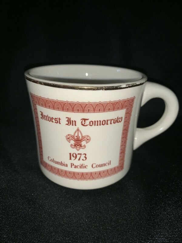 BSA Vintage Coffee Cup Mug 1973 Boy Scouts Columbia Pacific Council