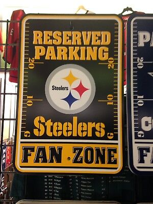 Pittsburgh Steelers Fan Zone Parking Sign - New (Pittsburgh Steelers Zone Sign)