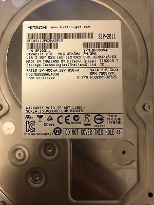 """Hard Disk HD 2TB, Interno, 3,5"""" SATA marca Hitachi"""