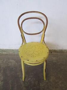 D20049 Old J&J KOHN Yellow Bentwood Chair Mount Barker Mount Barker Area Preview